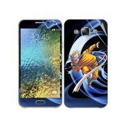 Snooky 48285 Digital Print Mobile Skin Sticker For Samsung Galaxy E7 - Blue
