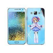 Snooky 48293 Digital Print Mobile Skin Sticker For Samsung Galaxy E7 - Blue