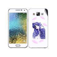 Snooky 48301 Digital Print Mobile Skin Sticker For Samsung Galaxy E7 - White