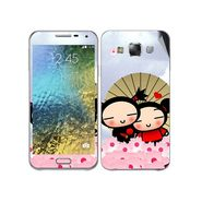 Snooky 48306 Digital Print Mobile Skin Sticker For Samsung Galaxy E7 - Multicolour