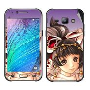 Snooky 48308 Digital Print Mobile Skin Sticker For Samsung Galaxy J1 - Multicolour