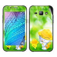 Snooky 48312 Digital Print Mobile Skin Sticker For Samsung Galaxy J1 - Green