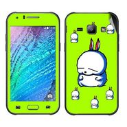 Snooky 48316 Digital Print Mobile Skin Sticker For Samsung Galaxy J1 - Green