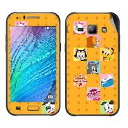 Snooky 48318 Digital Print Mobile Skin Sticker For Samsung Galaxy J1 - Yellow