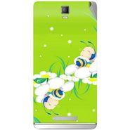 Snooky 48345 Digital Print Mobile Skin Sticker For Lava Iris Fuel 50 - Green