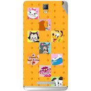 Snooky 48350 Digital Print Mobile Skin Sticker For Lava Iris Fuel 50 - Yellow