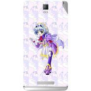 Snooky 48361 Digital Print Mobile Skin Sticker For Lava Iris Fuel 50 - Purple