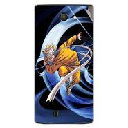 Snooky 48445 Digital Print Mobile Skin Sticker For Lava Iris 456 - Blue