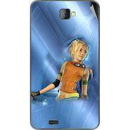 Snooky 48474 Digital Print Mobile Skin Sticker For Lava Iris 502 - Blue