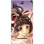 Snooky 48532 Digital Print Mobile Skin Sticker For Lava Iris 504Q Plus - Multicolour