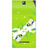 Snooky 48537 Digital Print Mobile Skin Sticker For Lava Iris 504Q Plus - Green