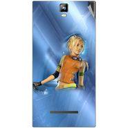 Snooky 48538 Digital Print Mobile Skin Sticker For Lava Iris 504Q Plus - Blue