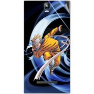 Snooky 48541 Digital Print Mobile Skin Sticker For Lava Iris 504Q Plus - Blue