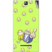 Snooky 48560 Digital Print Mobile Skin Sticker For Lava Iris 504Q Plus - Green