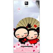 Snooky 48562 Digital Print Mobile Skin Sticker For Lava Iris 504Q Plus - Multicolour