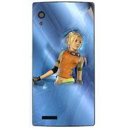 Snooky 48570 Digital Print Mobile Skin Sticker For Lava Iris Fuel 60 - Blue