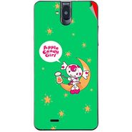 Snooky 48694 Digital Print Mobile Skin Sticker For Lava Iris 550Q - Green