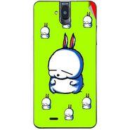 Snooky 48700 Digital Print Mobile Skin Sticker For Lava Iris 550Q - Green