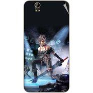 Snooky 48795 Digital Print Mobile Skin Sticker For Lava Iris X1 - Blue
