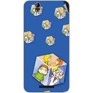 Snooky 48878 Digital Print Mobile Skin Sticker For Lava Iris X1 Grand - Blue