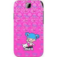 Snooky 42418 Digital Print Mobile Skin Sticker For Micromax Ninja 3.5 A54 - Pink