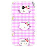 Snooky 42503 Digital Print Mobile Skin Sticker For Micromax Canvas Lite A92 - Pink