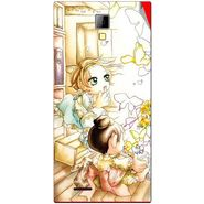 Snooky 42544 Digital Print Mobile Skin Sticker For Micromax Canvas Express A99 - White