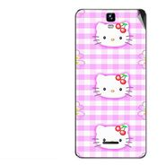 Snooky 42701 Digital Print Mobile Skin Sticker For Micromax Canvas HD Plus A190 - Pink