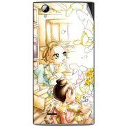 Snooky 42907 Digital Print Mobile Skin Sticker For XOLO A600 - White