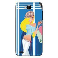 Snooky 43026 Digital Print Mobile Skin Sticker For Xolo Q800 - Blue