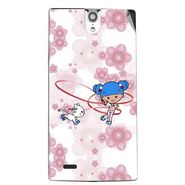 Snooky 43090 Digital Print Mobile Skin Sticker For Xolo Q1010i - White