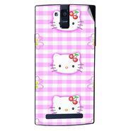 Snooky 43108 Digital Print Mobile Skin Sticker For Xolo Q2000 - Pink