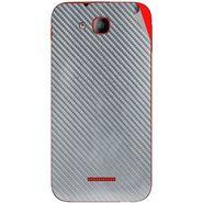 Snooky 43206 Mobile Skin Sticker For Intex Aqua CURVE Mini - silver