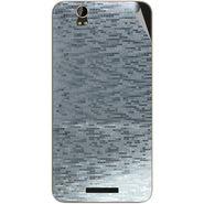 Snooky 43913 Mobile Skin Sticker For Lava Iris X1 Grand - silver