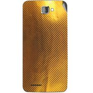 Snooky 44049 Mobile Skin Sticker For Micromax Canvas Mad A94 - Golden