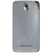 Snooky 44130 Mobile Skin Sticker For Micromax Canvas Entice A105 - silver