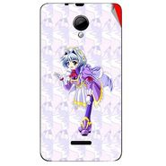 Snooky 45963 Digital Print Mobile Skin Sticker For Micromax Canvas Fun A76 - Purple