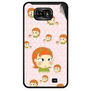 Snooky 46067 Digital Print Mobile Skin Sticker For Micromax Superfone Pixel A90 - Orange