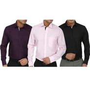 Pack of 3 Fizzaro Full Sleeves Cotton Shirts For Men_Fs10346