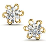 Avsar Real Gold and Swarovski Stone Anjali Earrings_Ave018yb