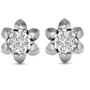 Avsar Real Gold and Swarovski Stone Sadhana Earrings_Ave078wb