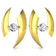Avsar Real Gold and Swarovski Stone Vinita Earrings_Uqe024yb