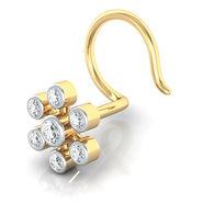 Avsar Real Gold & Swarovski Stone Kaveri Nose Pin_Av18yb