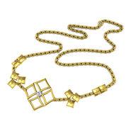 Avsar Real Gold & Swarovski Stone Vashi Necklace_Nl18yb