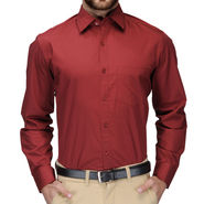Full Sleeves Cotton Shirt_mrnsht - Maroon