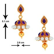 Spargz Ethnic Earring Studded With Pearl_Aier297 - Multicolor
