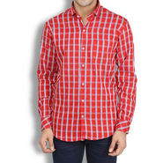 Brohood Slim Fit Full Sleeve Cotton Shirt For Men_A50128 - Red
