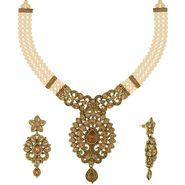 Spargz Brass Metal Necklace Set_Ains098