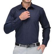 Being Fab Cotton Formal Shirt_Bfs08 - Navy Blue