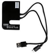 DGB Pandora 3 Port USB Hub with Mobile Stand - Black